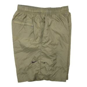 Vintage Nike Men's Medium Green Nylon Lined Swim Trunks Beach Board Shorts