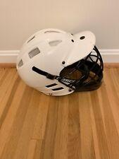 Cascade Lacrosse Helmet Adjustable Sx White With Black Cage