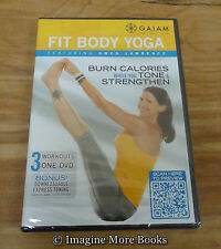 Fit Body Yoga with Gwen Lawrence ~ Gaiam ~ NEW/SEALED DVD