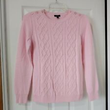 Talbots Petites Pink Cable Knit Wool Blend Sweater - P NWT