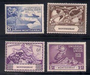 Montserrat   1949   Sc # 108-11   UPU   MLH   (2042)