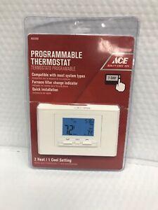 Lux ATX700U-A04 Digital Programmable Thermostat, Square, White