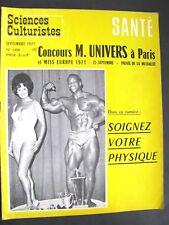 Revue Sciences culturisme N°149 Septembre 1971 Complet + poster