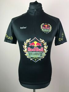Texner Red Bull Velodux 2017 Cycling Jersey Men's Size L 1/4 Zip Short Sleeve
