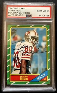 🔥 PSA 10 Jerry Rice Autographed 1986 Topps Rookie Card Encased Look At The Card