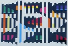 """YAACOV AGAM """"""""Bout About #3"""""""" 1975  HAND SIGNED Serigraph framed"""