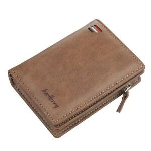 Men's Bifold Credit ID Card Holder Wallet Billfold Purse Coin Zip Clutch Pocket
