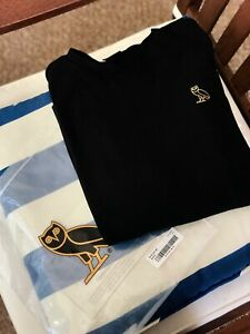 OVO Drake Authentic Essentials Long Sleeve T-Shirt Black Size XL Used