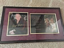 HUGH HEFNER Signed Original Photo VINTAGE PLAYBOY 1999 Mansion Invitation-FRAMED