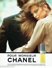 PUBLICITE ADVERTISING 036  1980  Chanel eau de toilette Monsieur