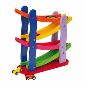 New Wooden Toys Click Clack Race track, Car Run, Marble Run, Track Run