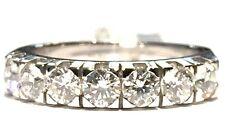 anello veretta in oro bianco 18 kt con 7 diamanti ct 1,10 F VVS1 n 13,5