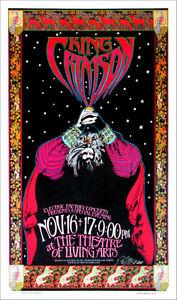 King Crimson Poster Philadelphia 2000 Concert New A/P Giclee Signed by Bob Masse
