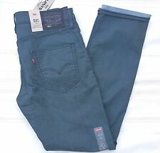 LEVIS 511 jeans SLIM fit COMMUTER 191110044  stretch TEAL green blue 28x30