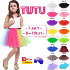 3 Layers TUTU Skirt Star Girl Kids Adults Dressup Party Costume Ballet Dancewear
