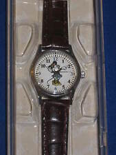 DISNEY Parks MINNIE MOUSE WATCH moves hands blue dress silver tone leather band