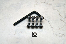 Anti-Theft *BLACK NICKEL* Security Screws for BMW FRONT & REAR License Plate
