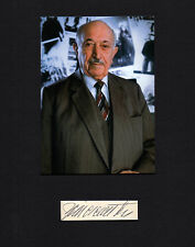 Simon Wiesenthal Nazi Hunter SIGNED CUT MATTED with 5x7 PHOTO