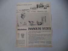 advertising Pubblicità 1961 PANNOLINI SVEDESI MOLNINA ROBERTS