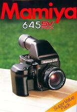 Mamiya 645 SV PACK Super Value Pack Prospekt brochure - (0725)