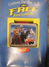 Lone Ranger Mini Tin Lunch Box Cheerios 60th Anniversary 2001 & Box panel insert