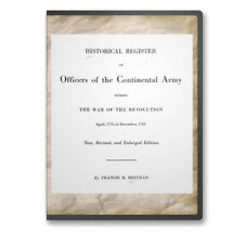Historical Register Officers Continental Army /Revolutionary War 1775-83 CD B469