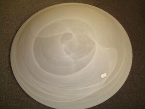 Leuchtenglas Lampenglas Lampe Glas Schale, Schirm no 58 Alabaster, gewölbt, neu