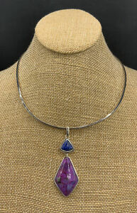 Barse Kappa Necklace- Lapis & Purple Turquoise- Sterling Silver- NWT