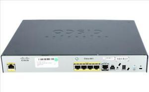 USED Cisco CISCO881-SEC-K9 Router 4 Port Fast Ethernet Base-TX WAN LAN