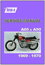 BSA Workshop Manual All A65 & A50 Models 1969 & 1970 FACTORY Service & Repair