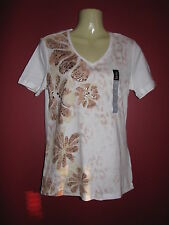 Nicole Miller New York Women's Floral Instinct T-shirt - Size Small - NWT