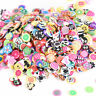 1000pcs 3D Fruit Animals Fimo Slice Clay DIY Nail Art Tips Sticker Decoration YK