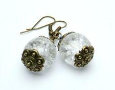 Vintage Ohrhänger Ohrringe mit crackle Perle