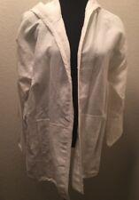 Women's Eileen Fisher NWT $158 White hooded Jacket Size Medium