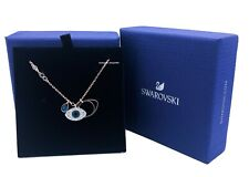 New Authentic SWAROVSKI Rose Gold Crystal Evil Eye Pendant Necklace 5172560