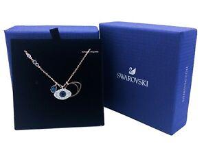 New Authentic SWAROVSKI Rose Gold Crystal Evil Eye Pendant Necklace 5172560