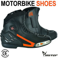 New Motorbike Motorcycle Boots Leather Touring Racing Shoes CE Armor Waterproof