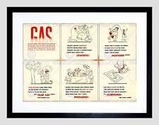 Soldados De Guerra 1942 advertencias de guerra química gas B12X11991 de impresión arte enmarcado