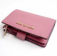 Michael Kors portemonnaie geldbörse jet set travel bifold zip wallet rose neu