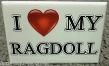 "I Love My Ragdoll 2"" x 3"" Refrigerator Locker Magnet Dog Cat Breed Canine Heart"