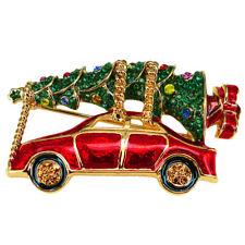 RUCINNI Car Brooch, 20K Gold Plated & Swarovski Crystals