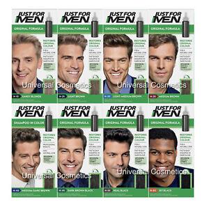 3 Pack Just For Men Hair Colour Original Formula Shampoo-in Mens Hair Dyes