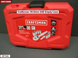 *EMPTY CASE* CRAFTSMAN 11 pc STANDARD SAE 1/4 DRIVE RATCHET SOCKET SET