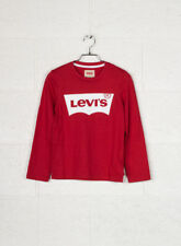 Levi's T-shirt Bambino Bambina LS Tee NOS N91005h Rosso 16a