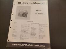 Original Service Manual Schaltplan  Sharp GF-1600X
