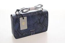 Modalu Brand New Leather Marlborough Ink Navy Snake Mix Shoulder Bag RRP £149
