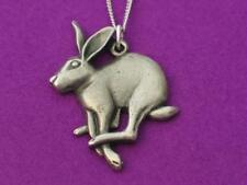 """Mad March hare English pewter pendant on 18"""" Chain"""