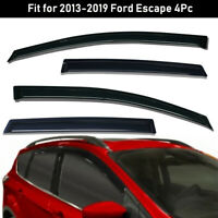 For 2013-2019 Ford Escape Window Visors Sun Rain Guards Vent Shade Deflectors