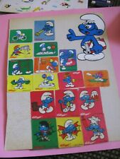 vintage 80's smurf stickers *used* (free ship $20 min)