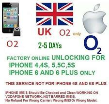 O2 UK Network factory Unlocking for IPHONE 3,4,4/s,5/5c/5s, 6/6+ 7 unlock code
